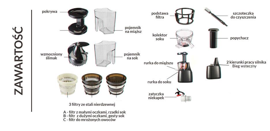 Wyciskarka wolnoobrotowa Essence Homekraft - B2B 4Kraft