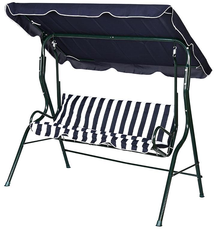 Huśtawka ogrodowa 3osobowa bujana ławka +poduszka  3197304750